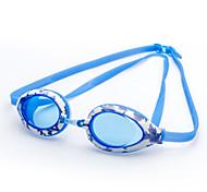 winmax® júnior ajustables gafas de natación marco de silicona de color azul oscuro / azul claro 100% anti UV y anti niebla