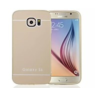 Special Design Solid Color Metal Back Cover and Bumper for Samsung Galaxy S6 (Assorted Colors)