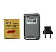 YI-YI™ Rechargeable 3030mAh 3.7V Replacement Battery with US Plug Charger and Eu Plug for Samsung Galaxy S3 I9300