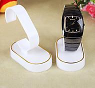 selo de ouro da moda jóias display plástico para relógios (1pc)