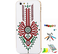 Chinese Knot Pattern Metal Frame And Relief Backshell Stylus Anti-Dust Plug And Stand For IPhone 6