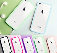 BIG D Clear  Acrylic Back Case for iPhone 5C(Assorted Color)