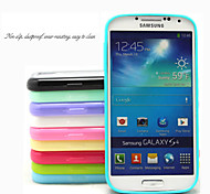 TPU Colorful Frame and PC Matting Transparent Slim Back Cover for Samsung S4 I9500(Assorted Colors)