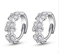 Sweet  As Picture Silver Plated Clip Earrings(As Picture) (1 Pair)
