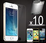 10pcs hd clara película de la pantalla frontal para el iphone 5 / 5s / 5c