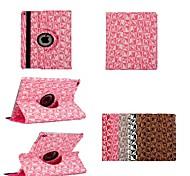 7.9 Zoll 360 Grad-Drehung Brief Muster PU Ledertasche mit Ständer für iPad mini 1/2/3 (verschiedene Farben)