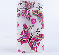 flower girl modello coperture del telefono rilievo dipinto materiale TPU trasparente per Alcatel One Touch pop c9