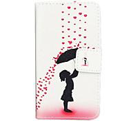 parapluie motif peint cartes en cuir pour LG l90 D405