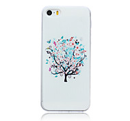 White Tree Pattern TPU Soft Back Cover Case for iPhone 5C