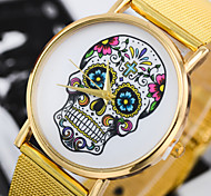 Unisex Fashion Watch Fashion Printed Skull Alloy Belt Quartz Watch