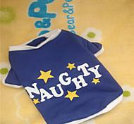 Perros Camiseta Azul Invierno Letra y Número