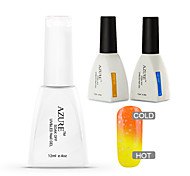 Azure 3 Pcs/Lot  Soak-off Color Changing UV Gel Nail Polish Top and Base Coat for Nail Art Beauty(#35+BASE +TOP)