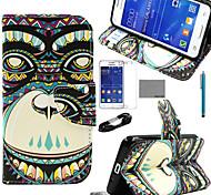 coco fun® modello di fiore pu custodia in pelle con la pellicola e cavo USB e lo stilo per Samsung Galaxy Core 2 g355h