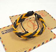 Fashion Men's Assorted Weave Leather Bracelets 1pc