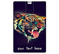 Personalized USB Flash Drive Head of Tiger Design 64GB Card USB Flash Drive
