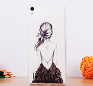 The Girl Back Design TPU Soft Case for Huawei P8