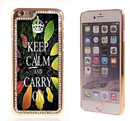 Keep Calm and Carry On Design Luxury Hybrid Bling Glitter Sparkle With Crystal Rhinestone Case for iPhone 6