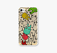 Rabbit Type World  Pattern PC Phone Case Back Cover for iPhone4/4S Case