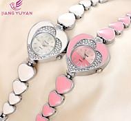 relógios de pulso marca strass coração das mulheres relógios moda senhora assistir feminino casual quartzo horas relógio relógio