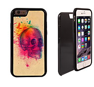 Skull with Birds Design 2 in 1 Hybrid Armor Full-Body Dual Layer Shock-Protector Slim Case for iPhone 6 Plus