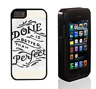 Done Perfect Design 2 in 1 Hybrid Armor Full-Body Dual Layer Shock-Protector Slim Case for iPhone 5/5S