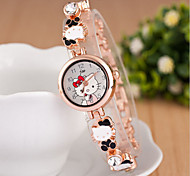 Women's Round Dial Case Alloy Watch Brand Fashion Quartz Watch(More Color Available) Cool Watches Unique Watches