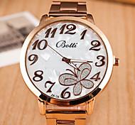 caso mostrador redondo relógio da liga relógio marca de moda quartzo das mulheres