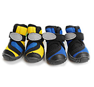 Cat / Dog Socks & Boots Blue / Yellow Spring/Fall Waterproof