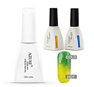 azur 3 pièces / lot changer de couleur de température de trempage hors nail art nail polish bricolage (# 31 + base + haut)