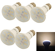 5PCS YouOKLight®  E27 9W CRI=80 800lm 3000K 18*SMD5730 Warm White Light LED Ceramic Spot Lights (AC85-265V)