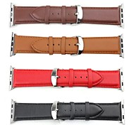 Apply 42mm The First Layer Leather Classic Buckle Products Strap Band for Apple watch(Assorted Colors)