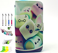 Cotton Candy Pattern PU All Inclusive and Stylus Pen Dust Plug Bracket Assembly for Samsung Galaxy Grand Prime G530H