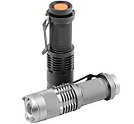 SK68 Rechargeable 3-Mode 1x Cree XR-E Q5  Zoom  LED Flashlight (1200LM, 1x14500)