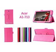 """PU-Leder Unifarben Ganzkörper Fällen Fällen mit Standfuß 7 """"für Acer Iconia Tab 7 a1-713 (verschiedene Farben)"""