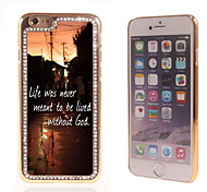 Leben mit Gott-Design Luxus-Hybrid-Bling Funkeln-Schein mit Kristallrhinestone-Kasten für iPhone 6
