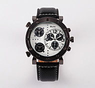 OULM® Men's Watch Military Watches Multicolor Belt Watches Three Time Zones Cool Watch Unique Watch