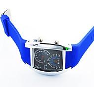 mode led instrumentenpaneel plastic horloge (diep blauw) (1 st)