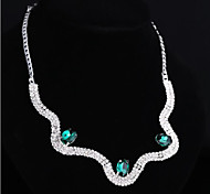 Noble Crystal Set Drill Necklace