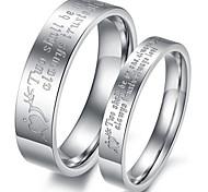 Couple de Bagues ( Acier au titane ) Mariage/Soirée/Quotidien/Casual