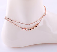 Simple European Style Fashion Style Double Anklet