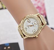reloj de acero de aleación de la corona de diamantes relojes de los hombres