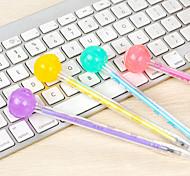 Fluorescent Lollipop Shaped Black Ink Gel Pen(Random Color)