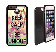 Keep Calm and Be Unique Design 2 in 1 Hybrid Armor Full-Body Dual Layer Shock-Protector Slim Case for iPhone 6