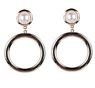 Fashion Women Pearl Set Big Drop Earrings