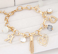 Fashion Metal Trend Wild Love Hearts Letter R Bracelet
