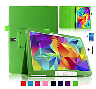 "pu lederen case cover stand tablet voor samsung galaxy tab s 10.5 ""t800 T805 + stylus pen + membraan"