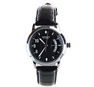 ms. disco calendário relógio de couro banda relógio de pulso de quartzo