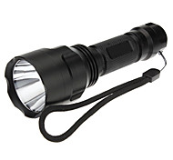 Torce LED / Torce (Ricaricabile / Tattico / autodifesa) - LED 5 Modo 200 Lumens 18650 Cree XR-E Q5 Batteria -