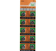 T&E AG10 LR1130 389 High Capacity Button  Batteries (10PCS)