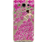 Lady And Rose Butterflies Pattern Ultrathin Emboss TPU Soft Back Cover Case for Samsung Galaxy A5